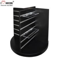 Wholesale Countertop Black Wood Slatwall Display Stands Rotating For Retail Store / Shops from china suppliers
