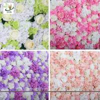 Wholesale UVG wonderful silk rose wall weddings with fake penoy flowers for wedding Décor CHR1137 from china suppliers