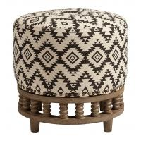 Wholesale Antique square stool cross leg solid wood ottoman Italian Shelter arm Upholsterd Fabric Ottoman Stool from china suppliers