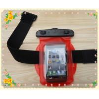 Wholesale Waterproof mobilephone bag with hang rope and wristband; from china suppliers