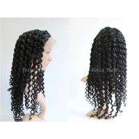 Wholesale Healthy Deep Wave Curly Full Lace Human Hair Wigs For Black Women from china suppliers