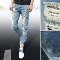 Wholesale Various Styles Plus Size White Mens Skinny Jeans Acid Wash Middle Waist from china suppliers