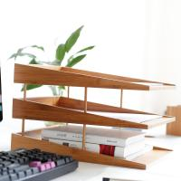 China bamboo file tray document tray on sale