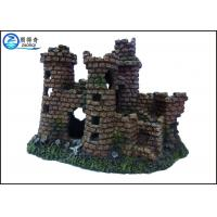 Wholesale Non-toxic Aquarium Resin Ornaments , Fish Tank Aqua Ornaments Castle from china suppliers