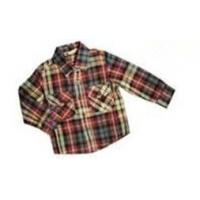 Wholesale Dyeing 100% Cotton Colorful Bottom - Up Front Boy Kids Plaid Shirts With unique design from china suppliers