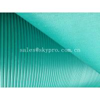 Wholesale Corrugated anti - skid rubber sheet roll with lined grooves on top from china suppliers