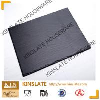 Wholesale stylish black natural 20cm*30cm rectangular slate cheese board  for tableware from china suppliers