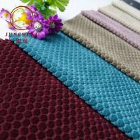 Buy cheap Hot sell warp Knitting jacquard velvet fabric for sofa or home texile from wholesalers