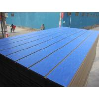 Buy cheap Solid Color 7 9 Slot  Slotted MDF Board Exported to Morocco Loose Package from wholesalers