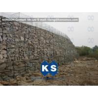 Wholesale Twisted Hexagonal Hot-Dip Galvanized Gabion Retaining Wall , Plastic Coated Woven Gabion Mattress from china suppliers