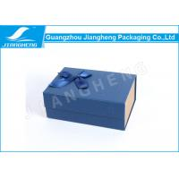 Quality Magnetic Closure Bowknot Special Blue Paper Folding Packaging Boxes Customized for sale