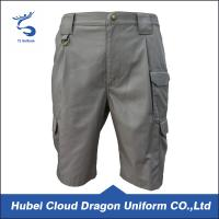 Wholesale Light Grey Men ' S Comfort Waist Pants , Multi Pockets Tactical Cargo Shorts from china suppliers