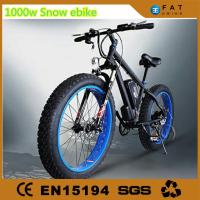 Wholesale 1000W Fat Mountain Bike / Fat Sand Bike 48V Aluminum Alloy Frame from china suppliers