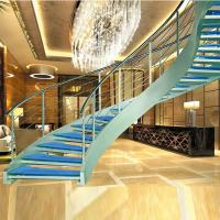 Wholesale Luxury curved glass staircase for sale from china suppliers