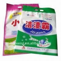 Buy cheap Washing Powder Packing Bags, Made of BOPP/PE, with Three-side Seal Style from wholesalers