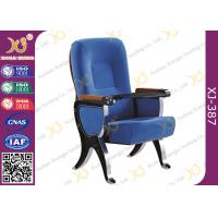 Wholesale ABS Writing Pad Aluminum Frame Church Auditorium Chairs 580 Center Distance from china suppliers