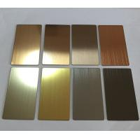 Wholesale Supply Stainless Steel Architectural Finish Sheets Like Mirror No.8/Brush No.4 / Ti Gold And Etched from china suppliers