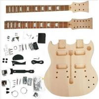 Wholesale Polished Body DIY Electric Guitar Kits Double Head / Neck Electric Guitar AG-DN1 from china suppliers