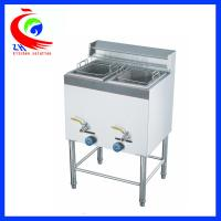 Wholesale Commercial Chicken Double Tank 28 Litre Lpg Gas Deep Fryer Freestanding from china suppliers