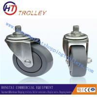 "Wholesale Light Duty Supermarket Shopping Trolley Spare Parts 75 mm 3"" PU Castors from china suppliers"