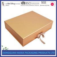 Wholesale Ribbon Closure Folding Gift Box , Cardboard Gift Boxes Huge Capacity For Apparel from china suppliers