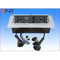 Wholesale Square Silver Desktop Power Plug Zinc Alloy With Power Outlet 265*130mm from china suppliers
