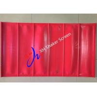Buy cheap Red Color High Tensioned Flip Flow Polyurethane Screen Panels for Coal Mining from wholesalers