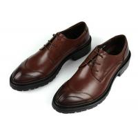 Wholesale Any Logo Mens Leather Dress Shoes With Stitches Britain Styles Brown Leather Dress Shoes from china suppliers
