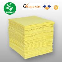 Wholesale Yellow 100% polypropylene Spill Control Chemical Haz-chem Absorbent Sorbent Pad (Sheet) from china suppliers