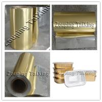 Wholesale golden aluminium foil with pp film for contianer from china suppliers