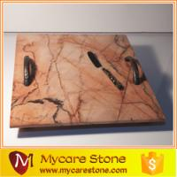 Wholesale mycare stone restaurant pink polished marble serving tray from china suppliers