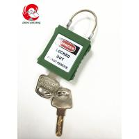 Wholesale ZC-G31 Safety Steel Cable Shackle Padlocks, Short Shackle locks with 8 colors from china suppliers