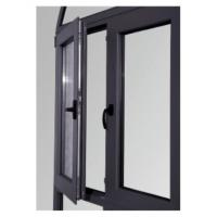 Wholesale Tempered Glass Replacing Double Aluminium Casement Windows Dark Gray ISO 9001 / CE from china suppliers