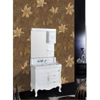 Wholesale Antique Bathroom Decoration PVC Vanity Cabinets With Legs / Zinc Alloy Handle from china suppliers