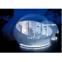 Wholesale Semi Transparent Inflatable Bubble Tent With Two White Tunnel , 5 M Diameter from china suppliers