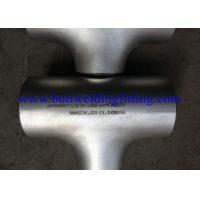 Wholesale A403 - WP317L SS Pipe Equal Reducer Butt Weld Tee 1 Inch To 48 Inch from china suppliers