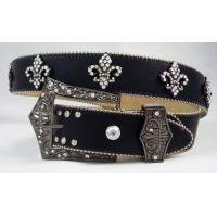Wholesale low price fluer de lis concho belts with crystal from china suppliers