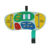 Wholesale Embossed Button PET / PC / PVC Actile Membrane Switch With LED Window from china suppliers