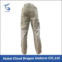 Wholesale Middle East Beige Security Guard Pants For Men / Police Cargo Pants Poly Cotton Canvas from china suppliers
