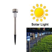 Wholesale White Stainless Steel Waterproof LED Solar Path Light for Garden from china suppliers