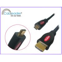 Wholesale Gold plated connector A / D Micro HDMI Cables support 10.2GGbps / 15.2Gbps, 3DTV, Ethernet from china suppliers