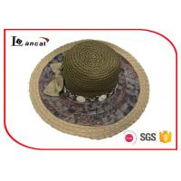 Wholesale LC16-0827-07 Sun Protection Wide brimmed straw hat with bowknot and straw edge from china suppliers