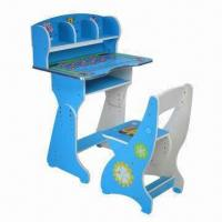 China Adjustable Colorful/Fancy Children's/Kid's Desk and Chair Set on sale