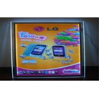 Wholesale Crystal Acrylic LED Light Box For Advertising Wall Mounted from china suppliers