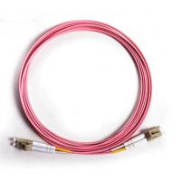 Wholesale OM4 pink Duplex 3Mtrs OFNP Fiber Optic Patch Cord insertion loss <=0.2dB from china suppliers