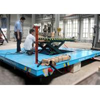 Quality Rail mounted oil hydraulic diven scissor lift trolley with operation platform for sale