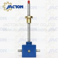 Wholesale New design swivel base jack best quality worm screw lift for aircraft maintenance Motorized Worm Screw Gear Jack from china suppliers