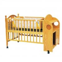 Wholesale Customized Swing Wooden Baby Cot Bed With Cabinet for new born Baby from china suppliers