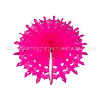 Wholesale Snowflake Round Hanging Paper Fans , Party Decoration Any Colors from china suppliers