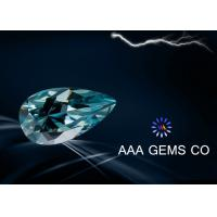 Wholesale Colored Blue Pear Cut Moissanite Loose Stones Small Size 2.5 x 4.5 MM from china suppliers
